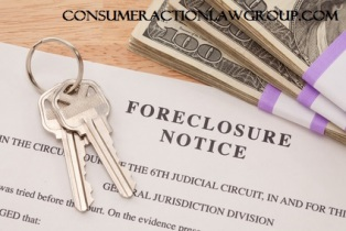 House Keys, Stack of Money and Foreclosure Notice